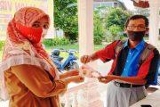 Cegah Corona, Kades Sungai Pasak Salurkan 1.200 Masker Gratis Kepada Warganya