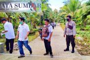 Kanit Sabhara Polsek Sipora Bersama Camat Monev Dana ADD Desa Mara Tahap I dan II