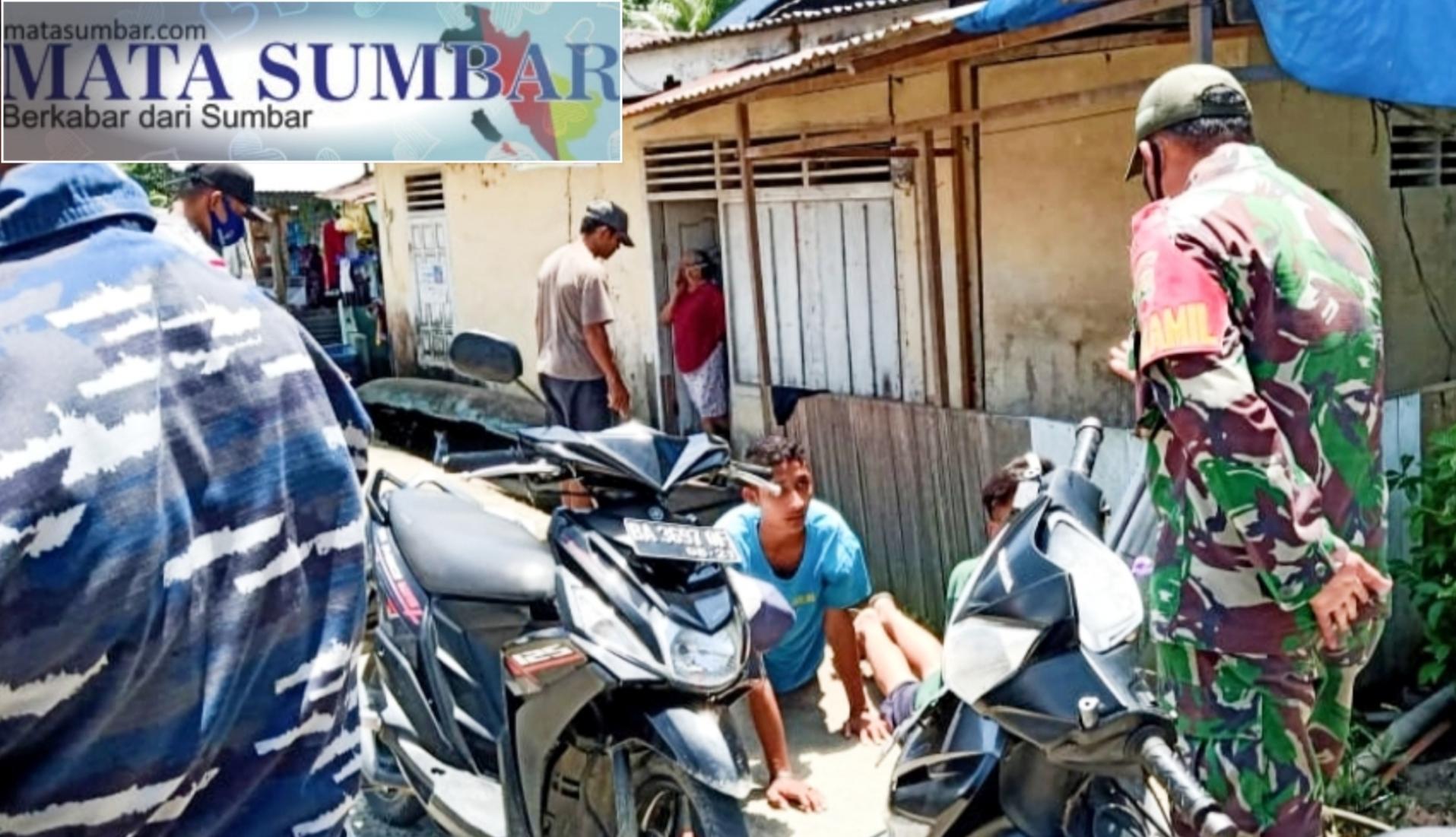 Penegakan Disiplin Prokes, Koramil 04/Sikakap Patroli Gabungan