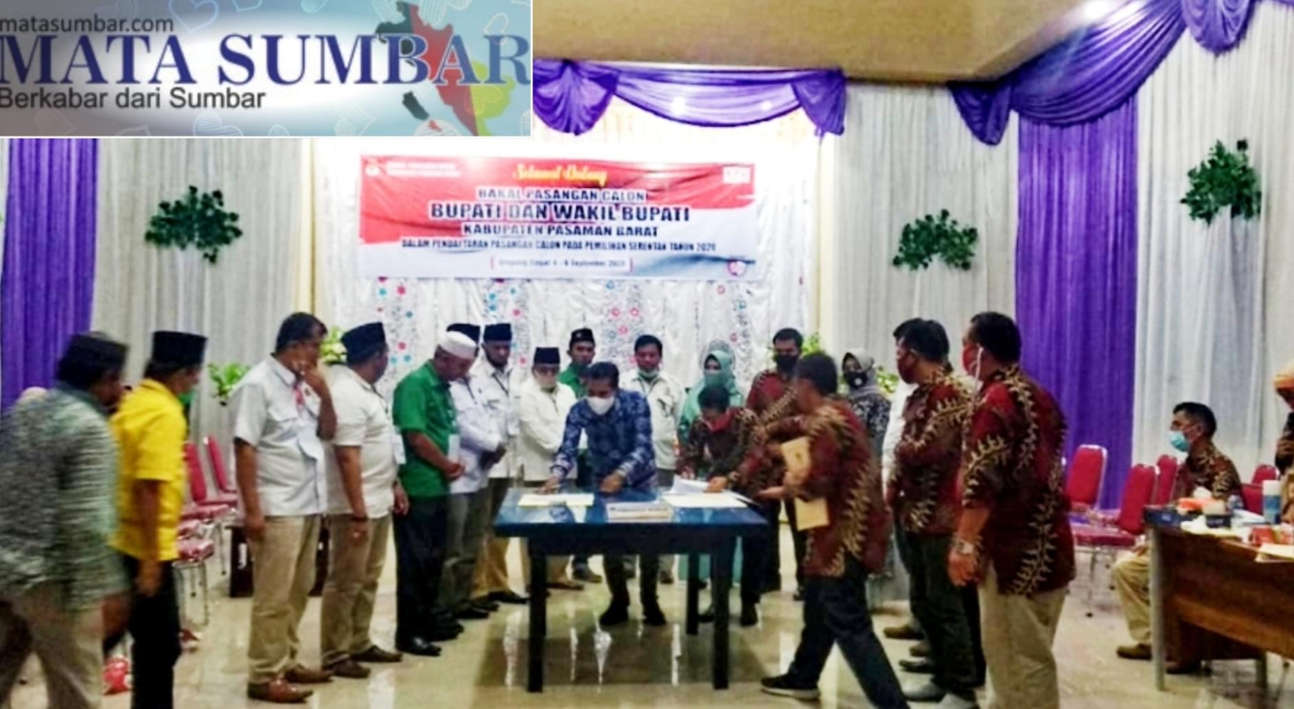 Diusung Koalisi Gerindra dan PKB, Maryanto-Yulisman Mendaftar ke KPU Pasbar