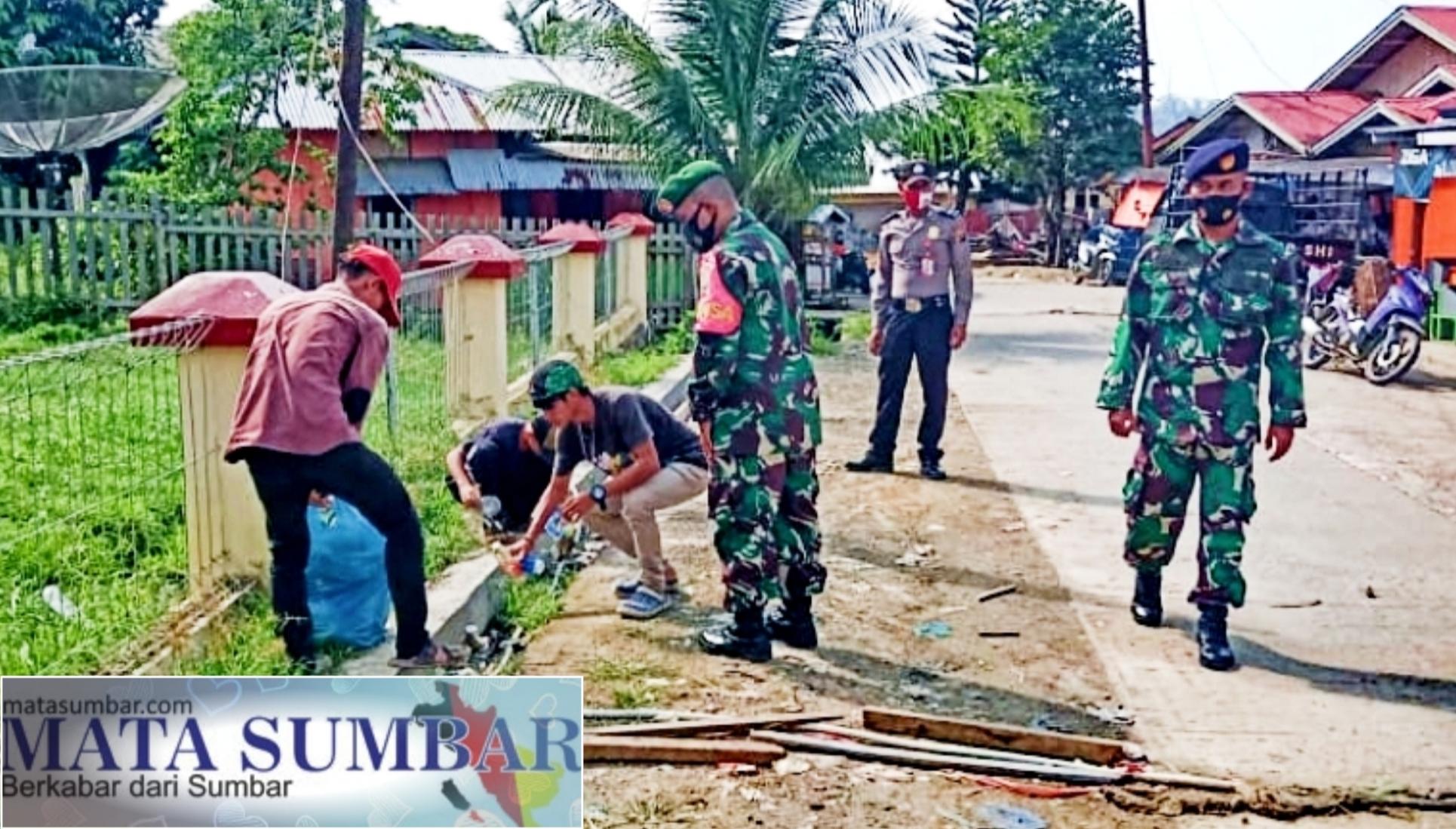 Tak Patuhi Prokes, TNI-POLRI Berikan Penindakan Kepada Warga di Sikakap