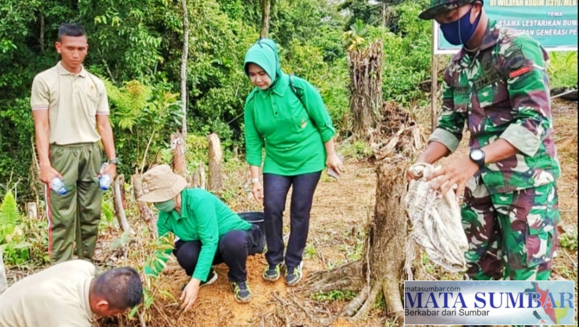 Tingkatkan Pembinaan LH, Kodim 0319/Mentawai Bersama Pemkab Tanam Pohon