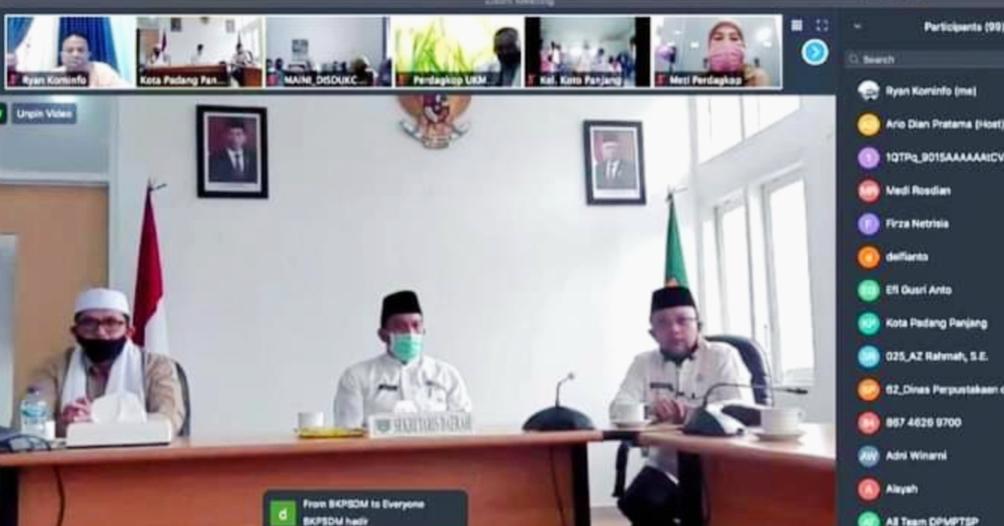Wirid Pengajian Secara Virtual Perdana di Gelar ASN Kota Padang Panjang