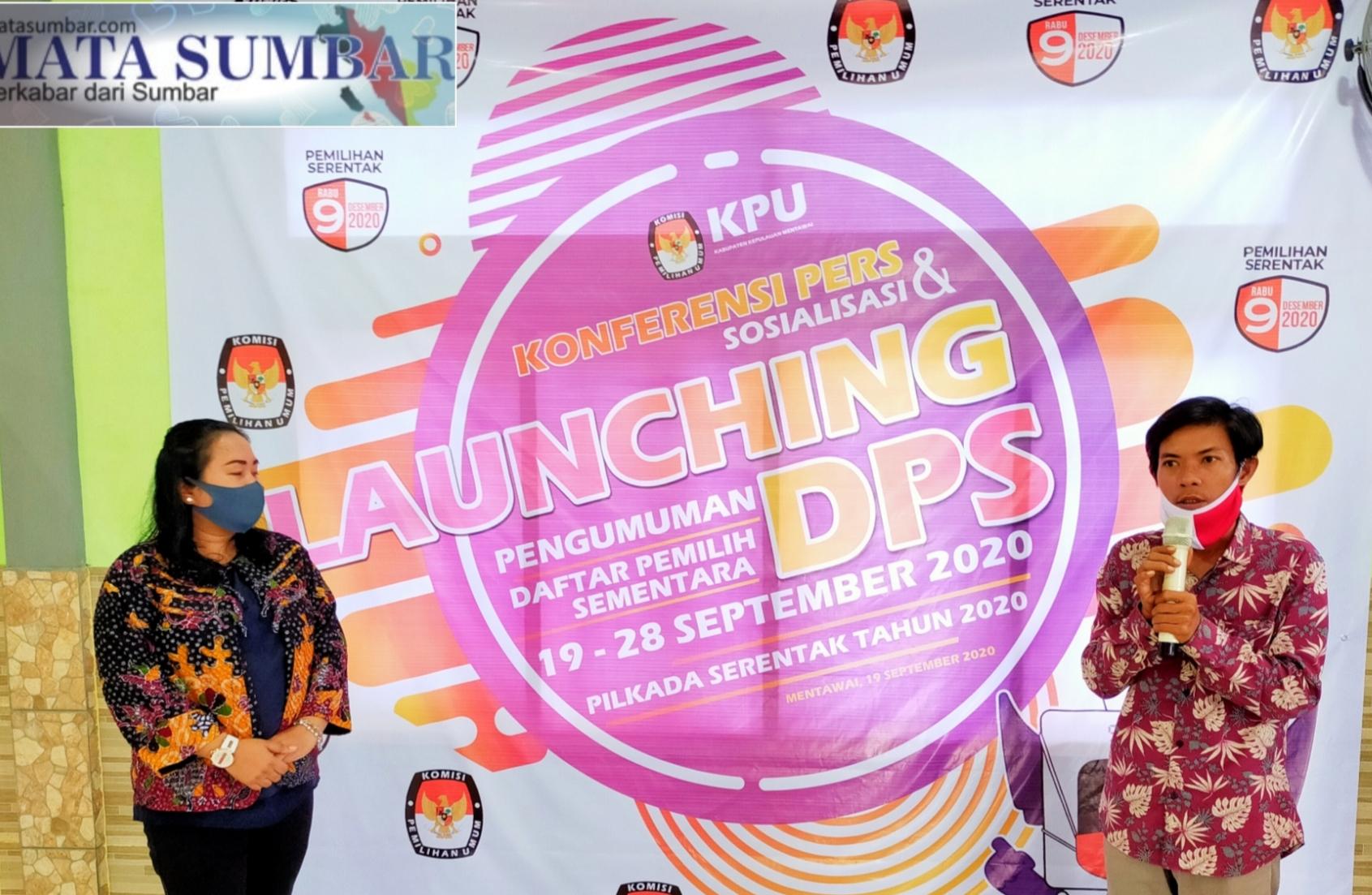 Pastikan Sebagai Pemilih di Pilgub, KPU Mentawai Launching dan Sosialisasi DPS