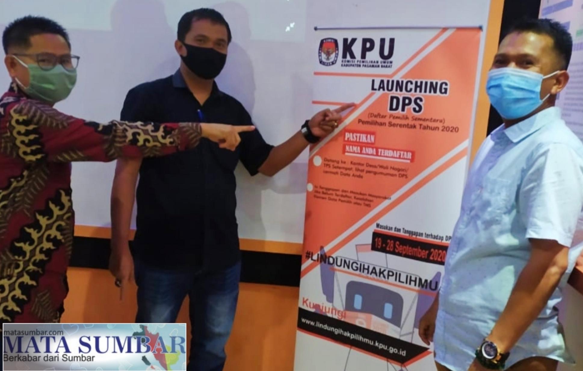 KPU Pasbar Launching DPS Pilkada 2020