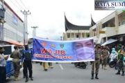 Penegakan Prokes, Pemko Padang Panjang Bersama TNI-POLRI Razia Masker di Seputaran Pasar Pusat