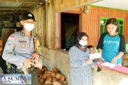 Pemulangan Pasien Sembuh Covid-19 di Bantu Bhabin Polsek Sikakap