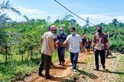 Akses Jalan Pertanian di Kampung Air Surut Pessel Jadi Perhatian Khusus Bagi Cawabup Rudi