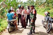 Penegakan Disiplin Prokes, Koramil, Polsek dan Kamla Lakukan Patroli Gabungan