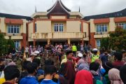 Unjuk Rasa Penolakan Omnibus Law Cipta Kerja, Gabungan Aliansi Mahasiswa Pasbar Sampaikan 7 Tuntutan