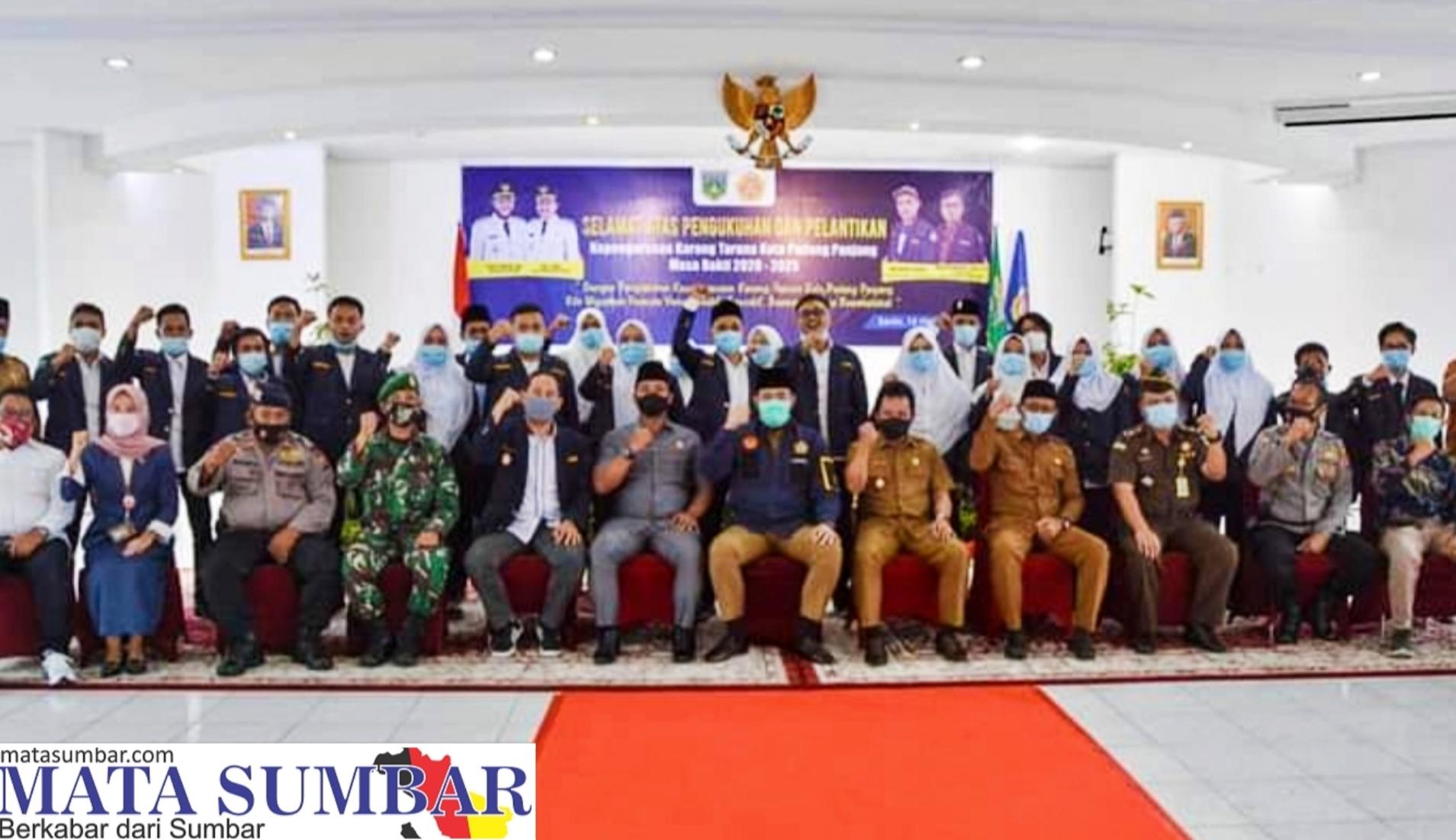 Pengurus Karang Taruna Padang Panjang di Lantik, Walikota : Jadikan Organisasi Sebagai Pelopor Pembangunan