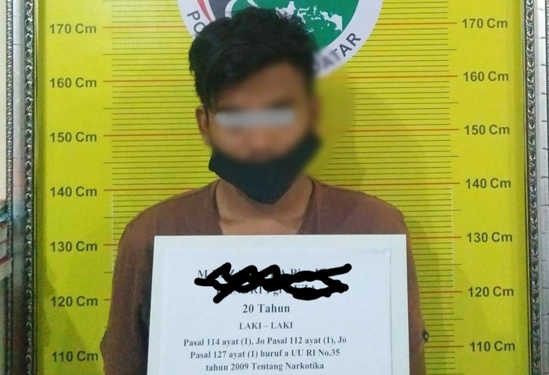 Edarkan Sabu, Seorang Pemuda di Bekuk Tim Tarantula Resnarkoba Polres Tanah Datar