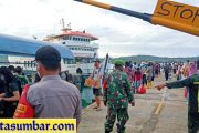 Minimalisir Penyebaran Corona, Satgas Covid-19 Sikakap PAM di Kapal Ambu-Ambu