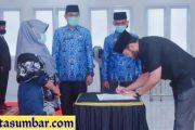 Wako Fadly Lantik 25 Orang Pejabat Administrator dan Pengawas
