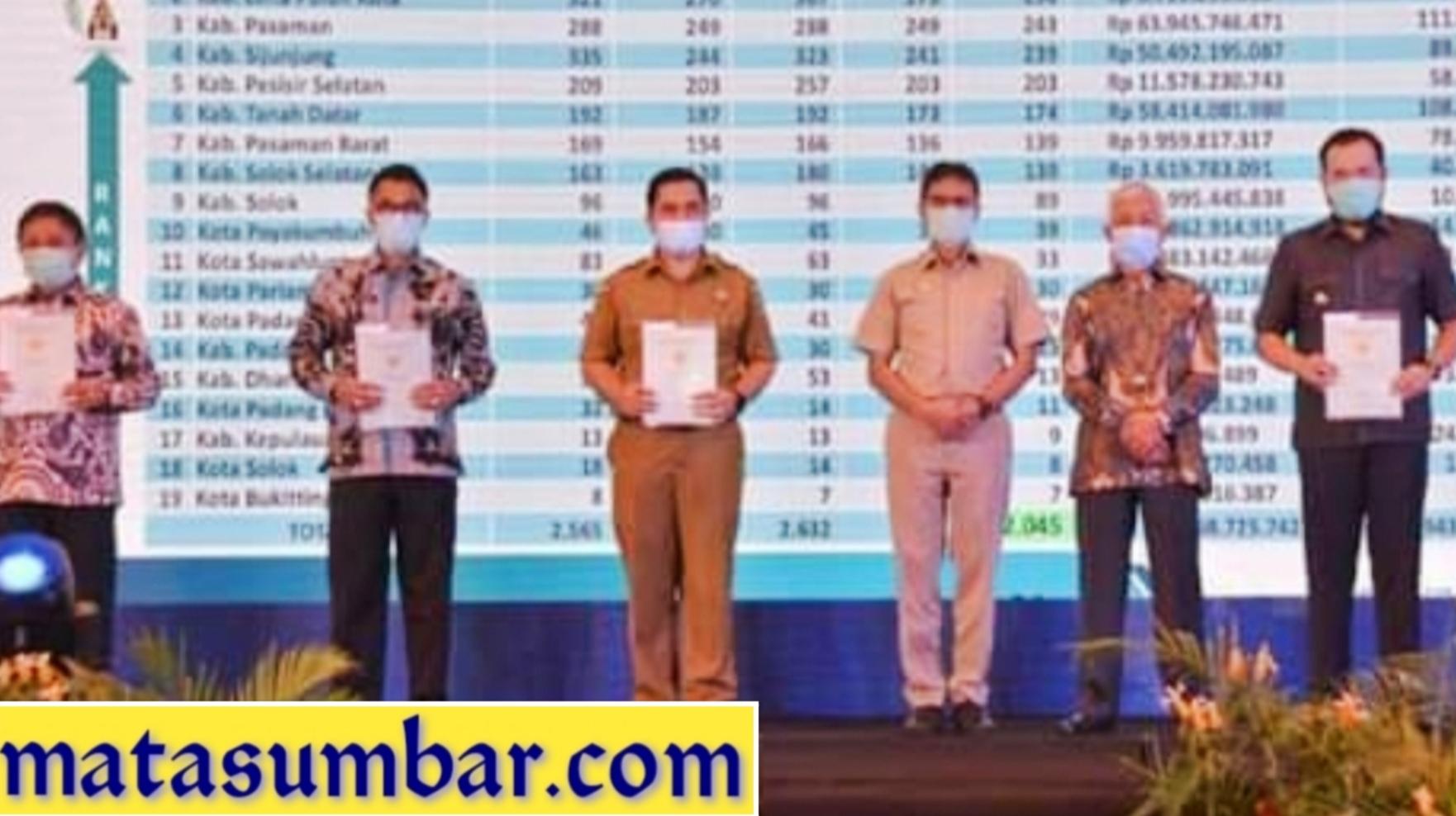 Pemko Padang Panjang Terima 16 Sertifikat Dari ATR/BPN
