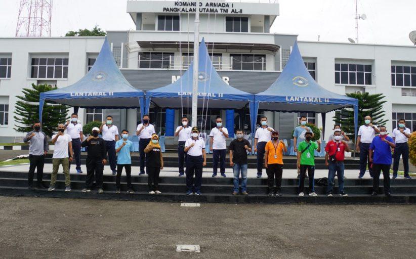 Coffee Morning dan Olahraga Bersama Danlantamal II dengan Awak Media