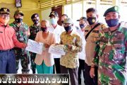 Koramil Sikakap Dampingi Penyerahan BLT Tahap II Desa Matobe'