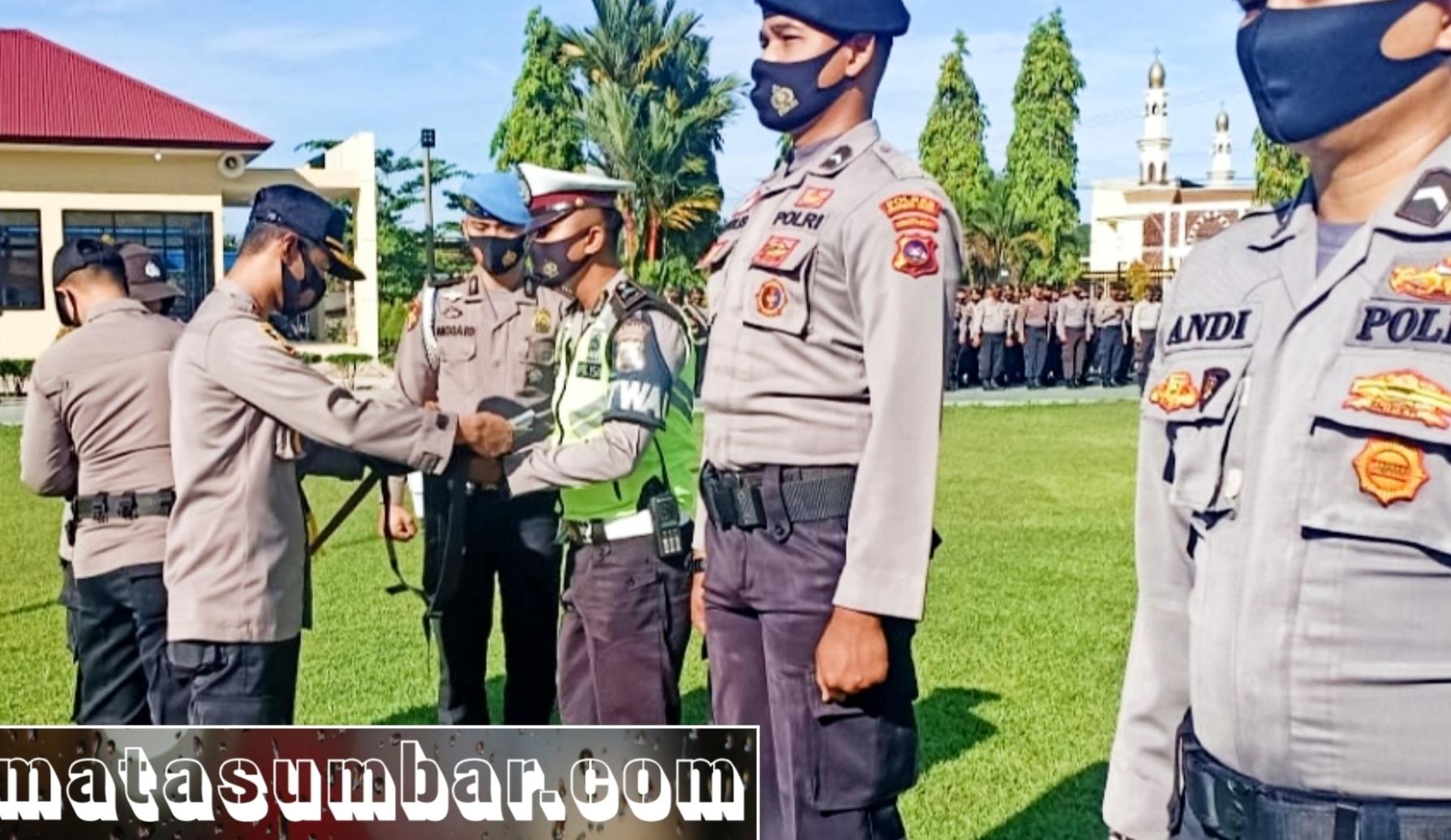 Pengamanan Pilkada Serentak, Polres Pasbar Lakukan Pergeseran Pasukan