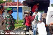 Koramil 04/Sikakap Kawal Pendistribusian Logistik Kotak Surat Suara