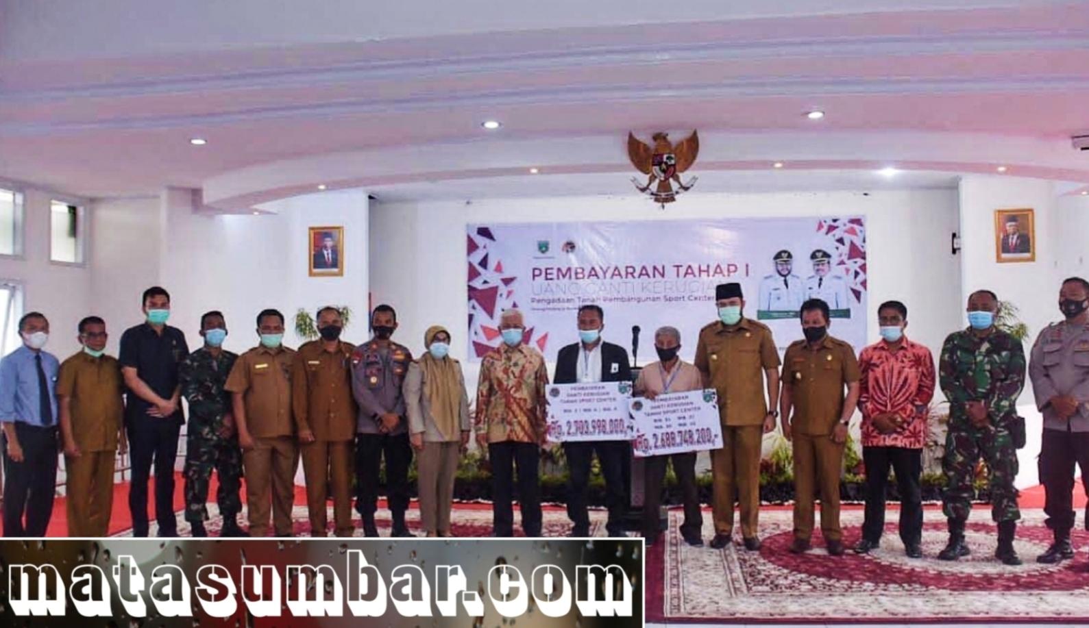 Niniak Mamak Dukung Pembangunan Sport Center, Pemko Bayarkan Ganti Rugi Tahap Pertama
