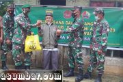 Peringati Hari Juang TNI-AD, Kodim 0319/Mentawai Berbagi Sembako Kepada Veteran