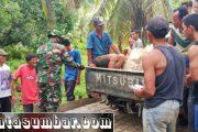 Babinramil Sikakap Monitoring Peningkatan Jalan Menuju Lokasi PLN di Dusun Mabolak
