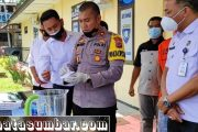 Satresnarkoba Polres Pasbar Musnahkan 22,29 Gram Sabu di Saksikan Tersangka