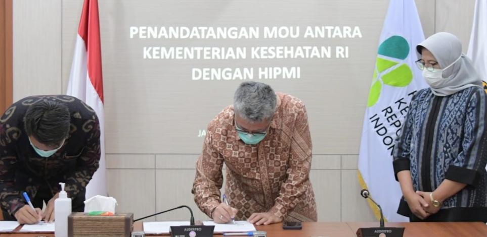 Tingkatkan Pembangunan Kesehatan di Indonesia, Kemenkes Jalin Kerjasama Dengan HIPMI