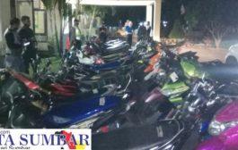 Aksi Balapan Liar, Puluhan Sepeda Motor di Amankan Polres Pasbar