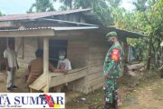 Persiapan TMMD ke-110 Kodim 0319/Mentawai, Babinsa 03 Sipora Tinjau Lokasi RTLH