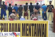 Gunakan Bahan Peledak, 7 ABK KM Kasih Sayang di Tangkap Polair Polres Mentawai