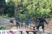 Perlancar Akses Mobilisasi, Satgas Pra-TMMD Ke-110 Kodim 0319/Mentawai Rampungkan Jembatan Penghubung
