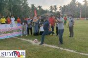 Buka Open Turnamen Sepak Bola Pujarahayu Cup 1, Bupati Pasbar Sekaligus Pamitan