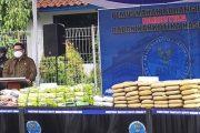 BNN Musnahkan 84 Kg Sabu dan Ganja 115 Kg Hasil Pengungkapan Tujuh Kasus Jaringan Nasional Maupun Internasional