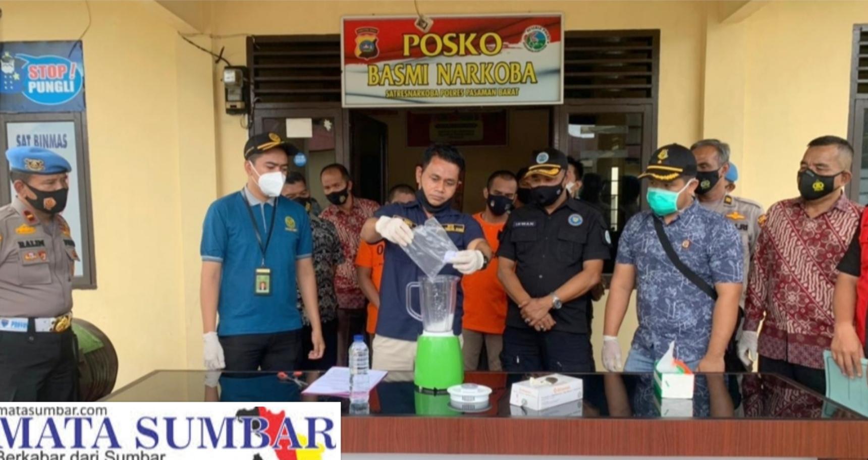 Polres Pasbar Musnahkan Barang Bukti Narkotika Jenis Sabu Seberat 133,43 Gram