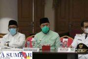 Rakor Kepala Daerah, Gubernur Sumbar Apresiasi Kota Padang Panjang Atas Capaian Pelaksanaan Vaksinasi