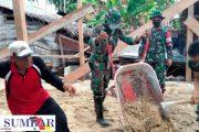 Dansatgas TMMD Ke-110 Kodim 0319/Mentawai Tinjau Pengerjaan Rehab RTLH