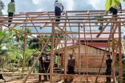 Percepat Rehab RTLH, Satgas TMMD Bersama Warga Lakukan Secara Gotong Royong
