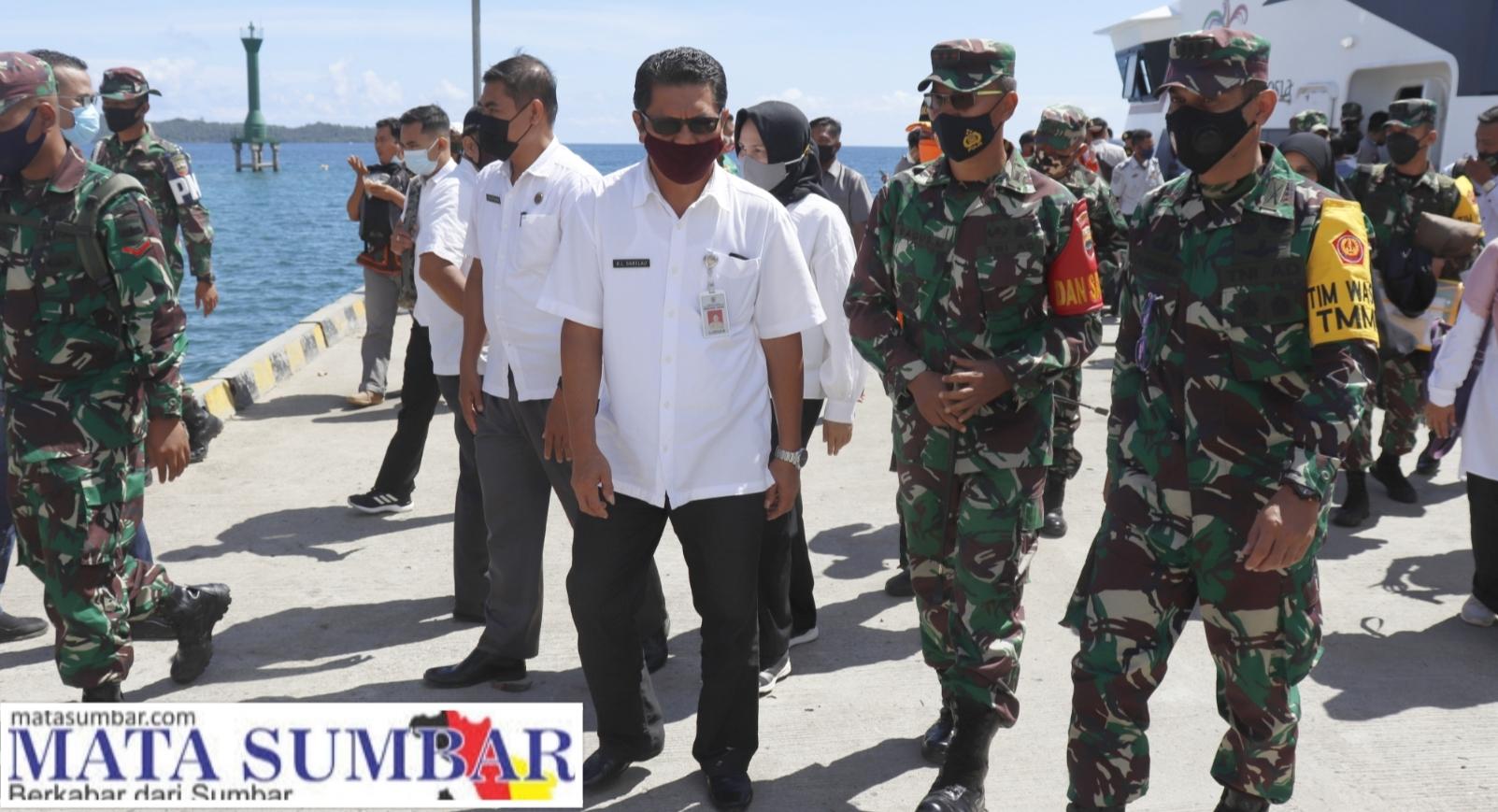 Tinjau Kegiatan TMMD Ke-110, Tim Wasev Kunjungi Mentawai