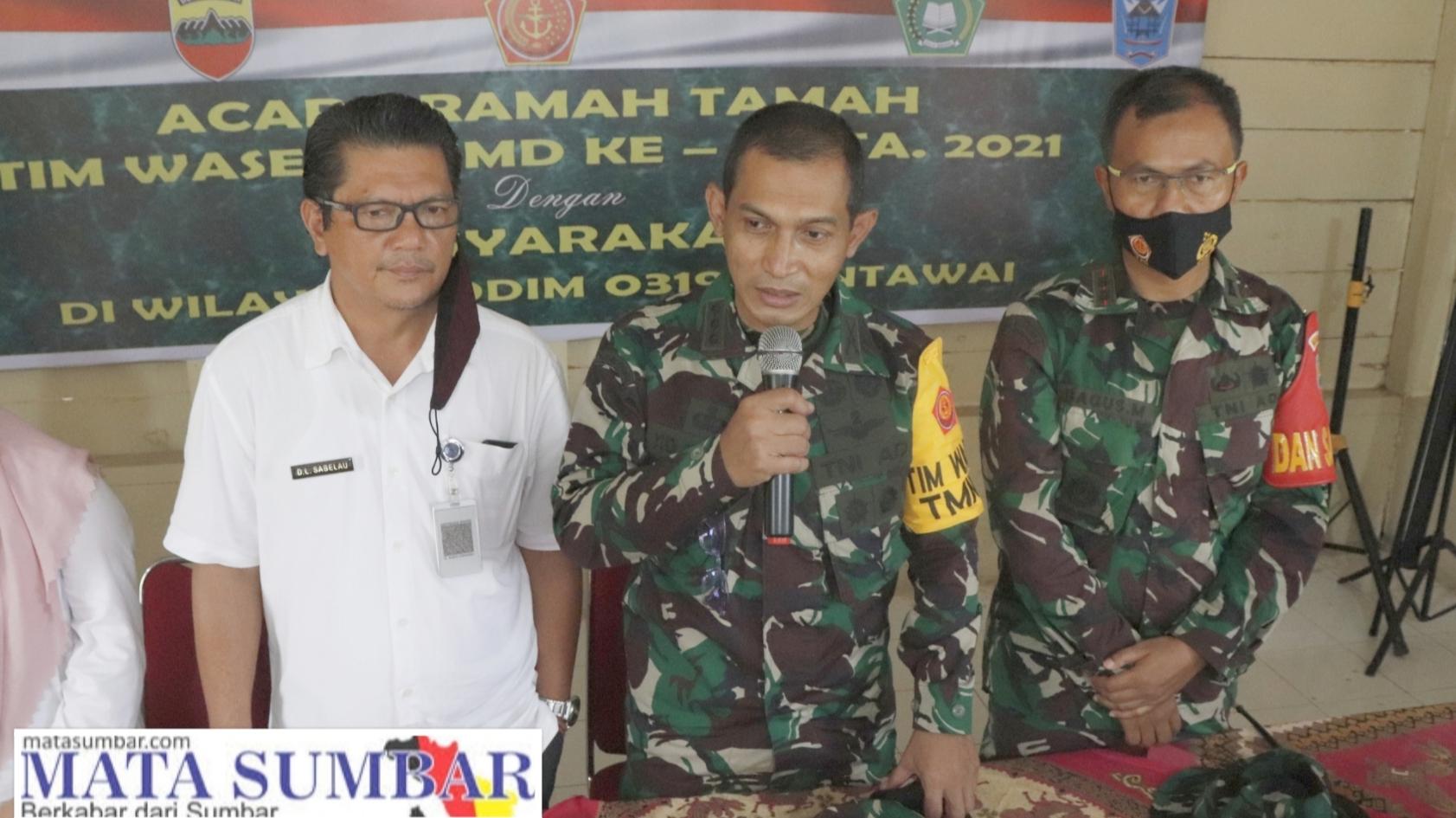 Ketua Tim Wasev Ajak Lapisan Masyarakat Peduli Untuk Memelihara dan Merawat Hasil Kegiatan TMMD