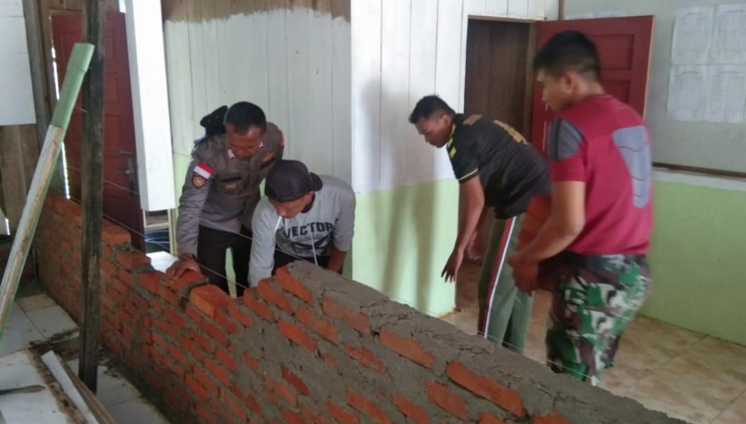 Pembangunan Rehab Masjid Al-Fajar Masuk Tahap Pemasangan Dinding