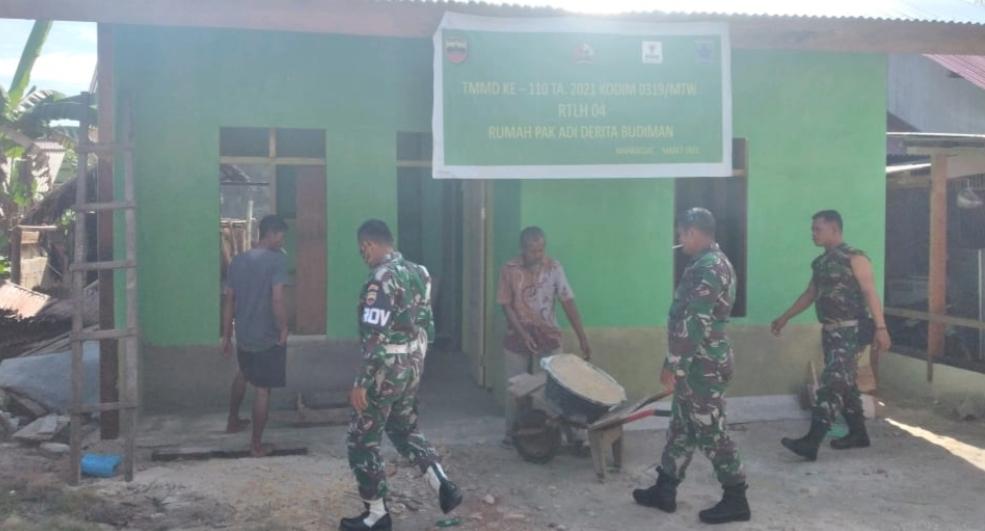 Pengerjaan Rehab RTLH Milik Warga Dusun Mapaddegat Memasuki Tahap Akhir