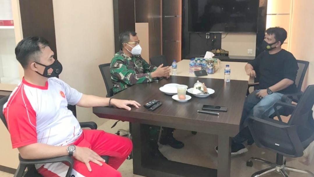 Sinergitas TNI-Polri, Dansatgas TMMD Silahturahmi Dengan Kapolres Mentawai