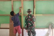 Rehab RTLH di Dusun Mapaddegat di Kerjakan Satgas TMMD Memasuki Tahap Pengecatan