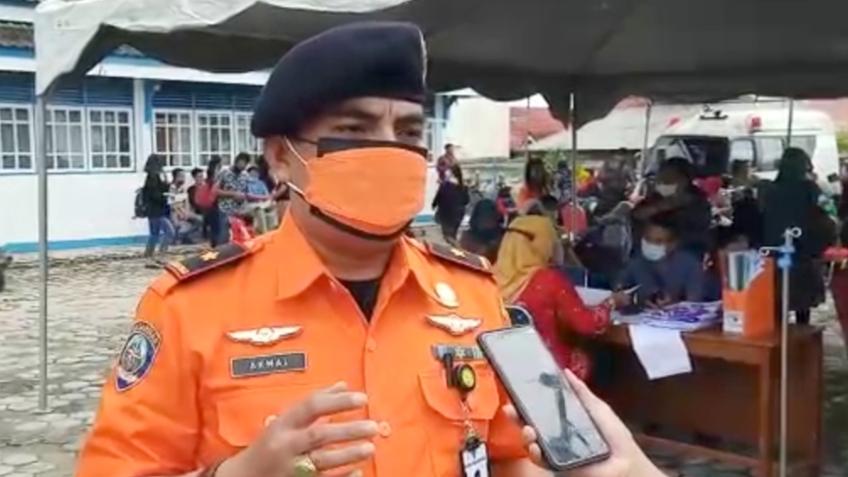 Dukung Program Indonesia Sehat, Kakansar Mentawai Jalani Vaksinasi Tahap II