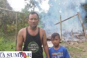 Satu Unit Rumah Kayu di Madobag Hagus Terbakar, Kerugian di Taksir Puluhan Juta