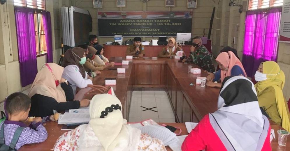 Rapat Triwulan RDS Desa Bukit Pamewa di Hadiri Satgas TMMD