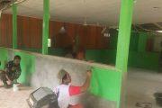 Diakhir Kegiatan TMMD, Rehab Masjid Al-Fajar Memasuki Tahap Pengecatan