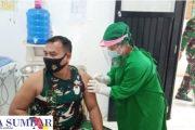 Danramil 04/Sikakap Beserta Anggota Ikuti Vaksinasi, 1 Orang di Tunda
