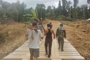 Jembatan Penghubung Karya Nyata TNI Sudah Nyaman di Lalui Warga